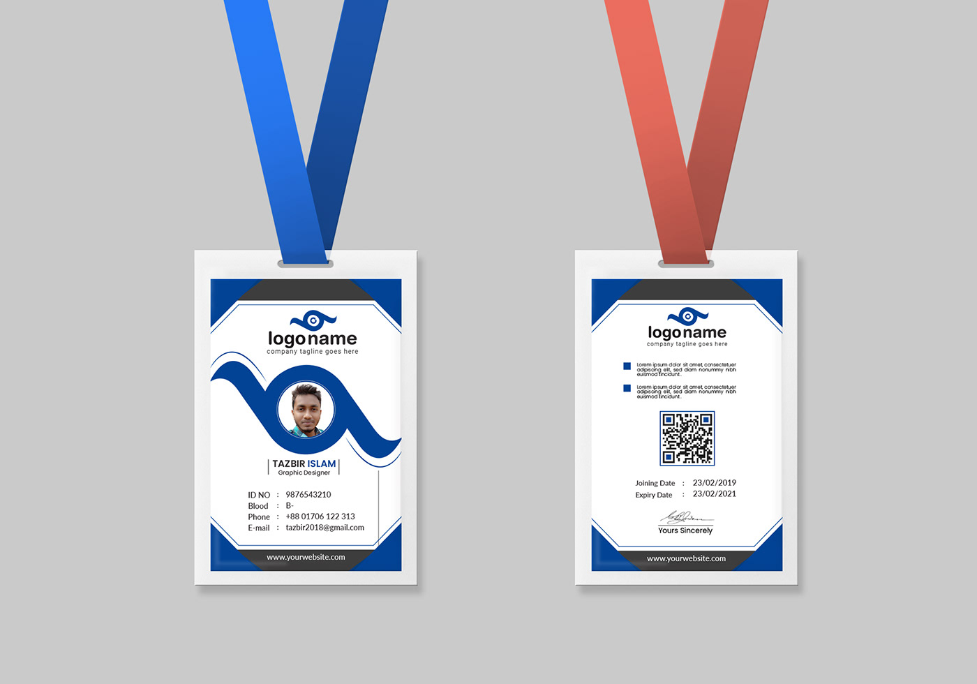 There are a variety of state id cards available. Employee Card Id Card Template On Behance