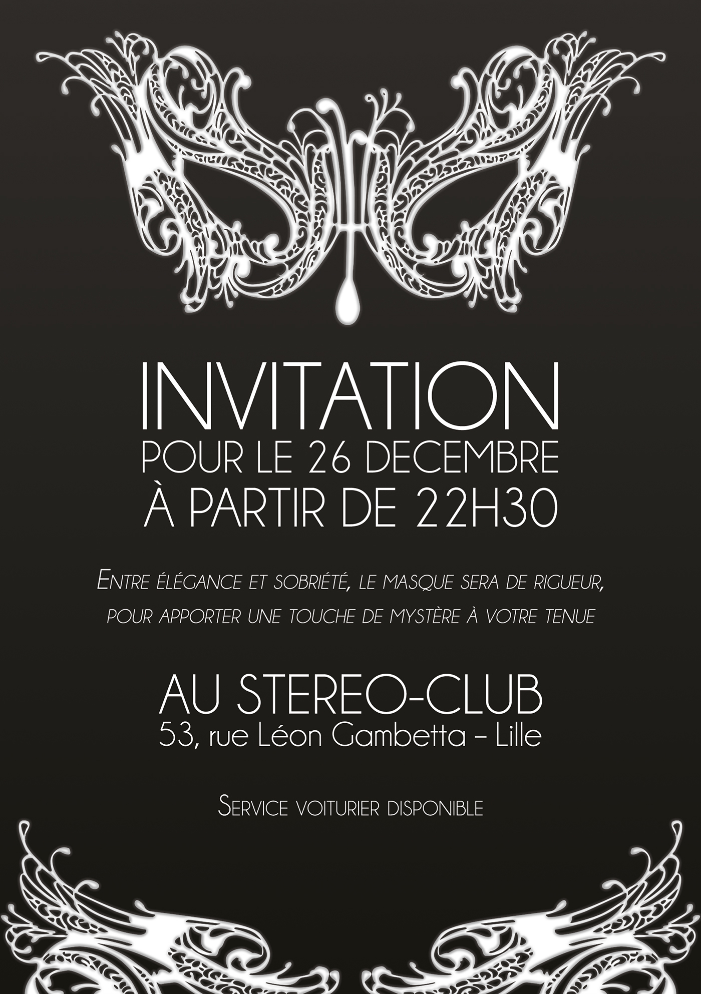 Invitation Masque On Behance