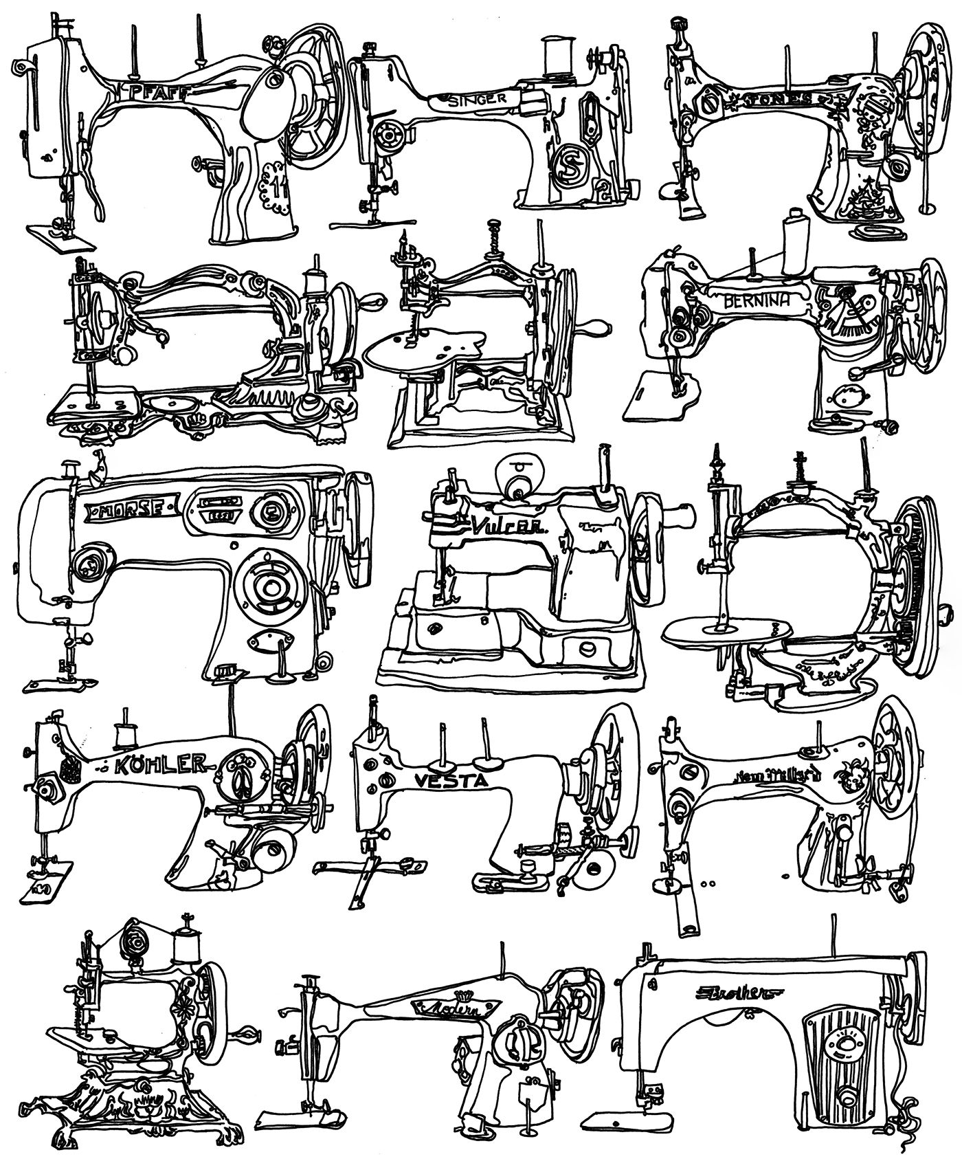 Vintage Sewing Machines On Behance