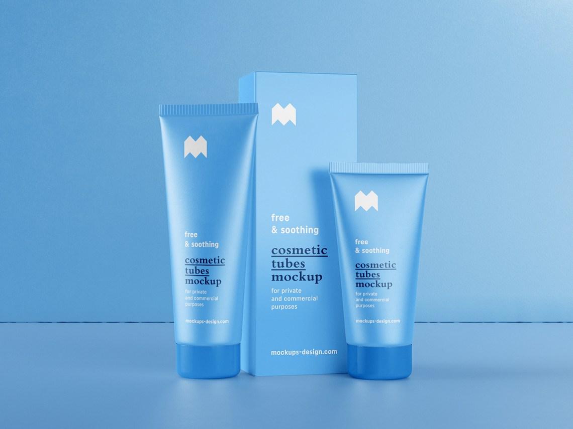 Download Free cosmetic tube & box mockup on Behance