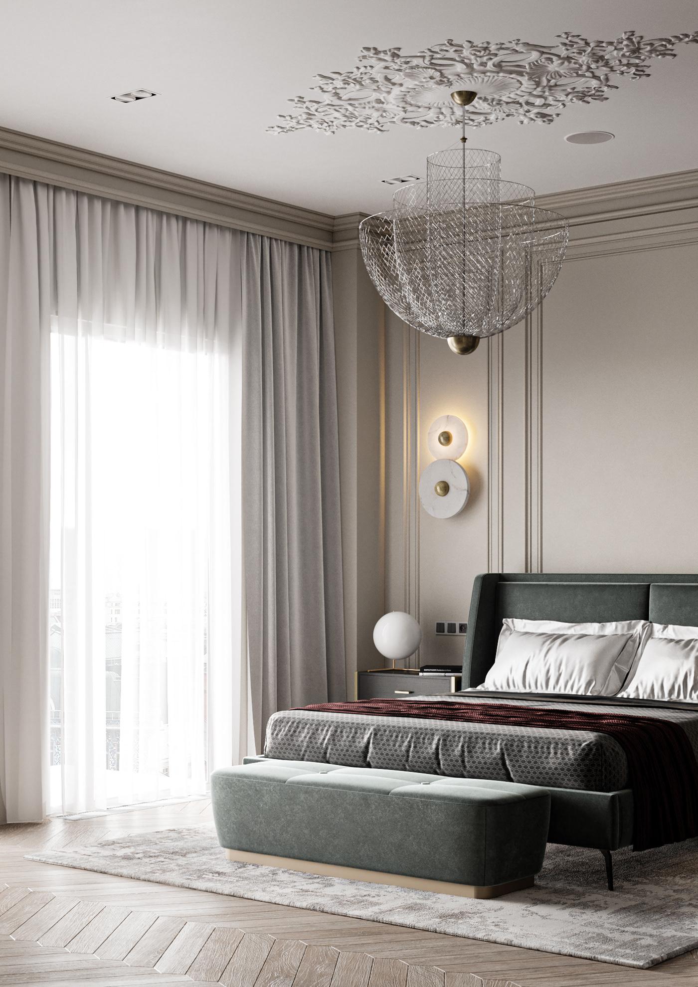 classic bedroom on behance