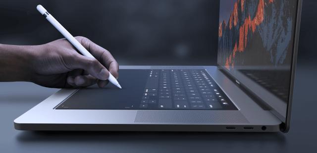 Apple pencil támogatás a MacBook Pro-n