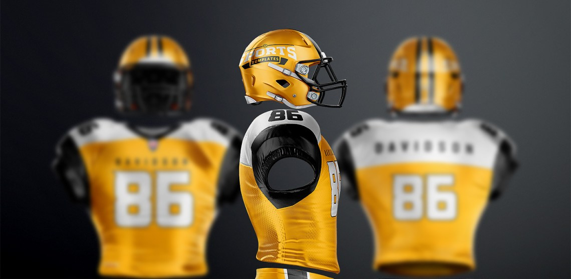 Download TouchDown Football Uniform Mockup on Behance