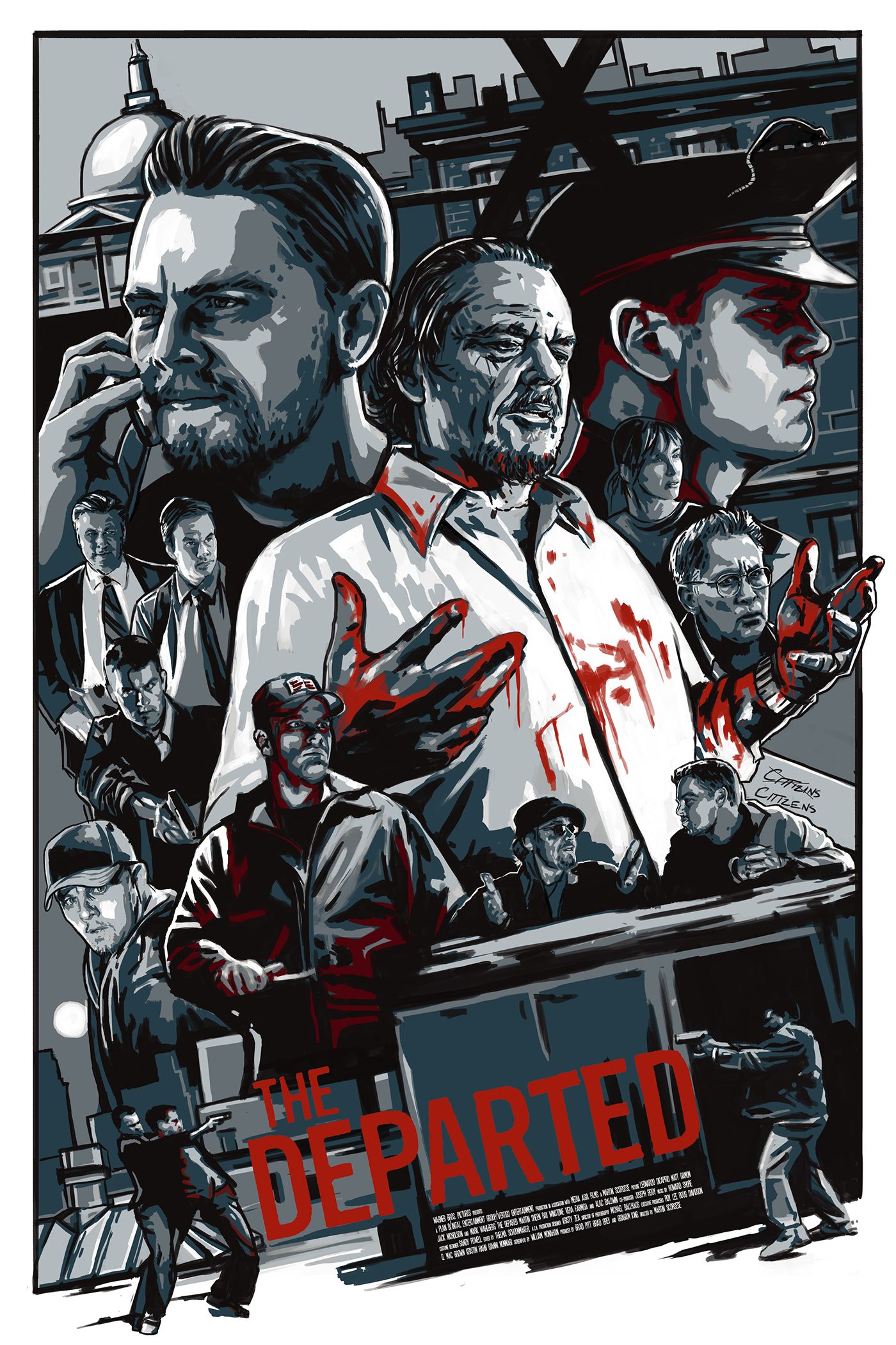 The Departed: Silkscreened Film Poster on Behance