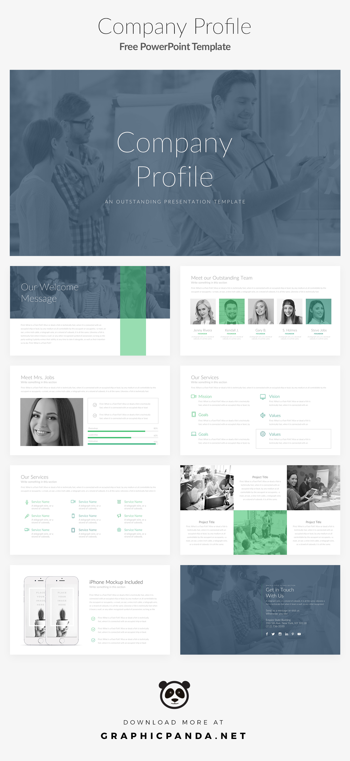 Free Powerpoint Template Company Profile Pitch Deck On