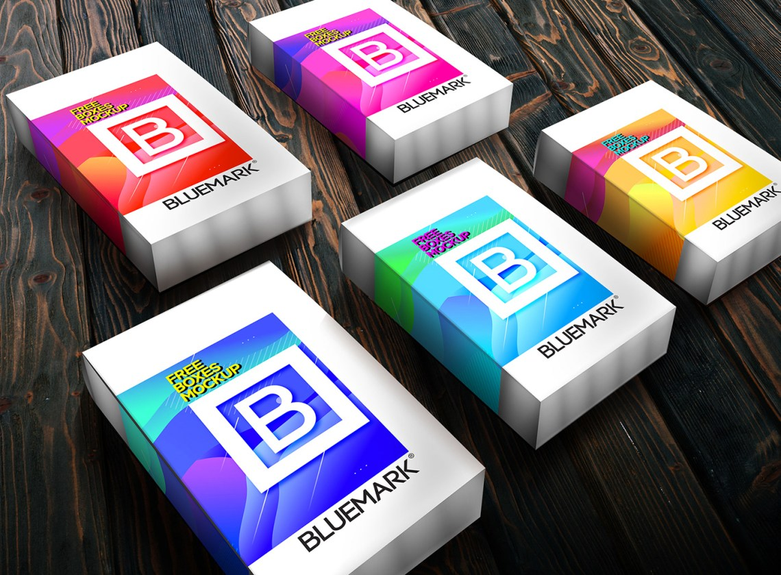 Download FREE PRODUCT BOXES MOCKUP on Behance