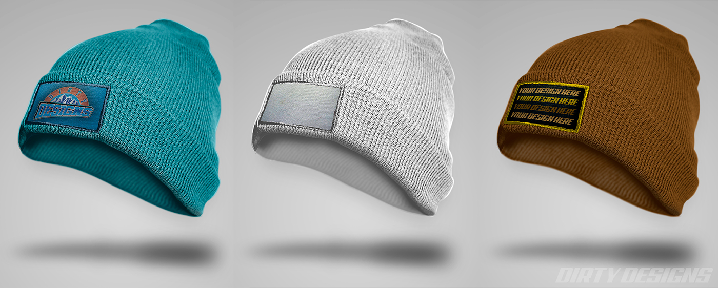 Free HD Beanie Embroidered Patch PSD Mock Up On Behance