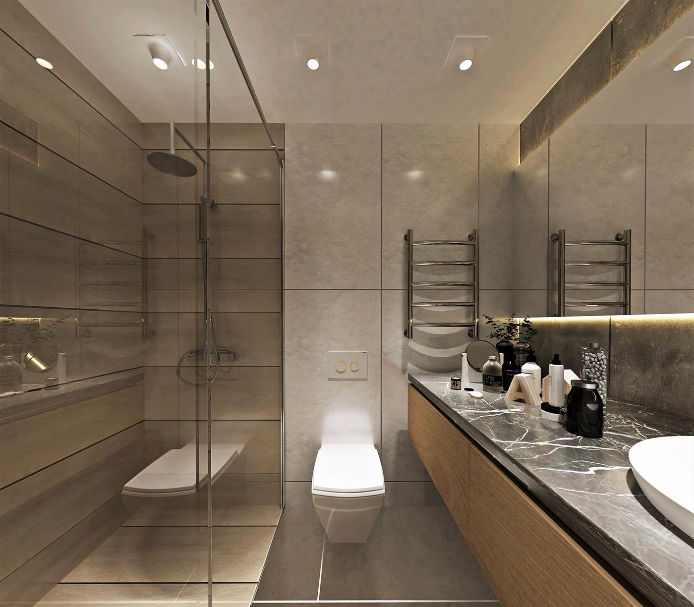 FREE SCENE // Bathroom Design on Behance on Bathroom Model  id=38079