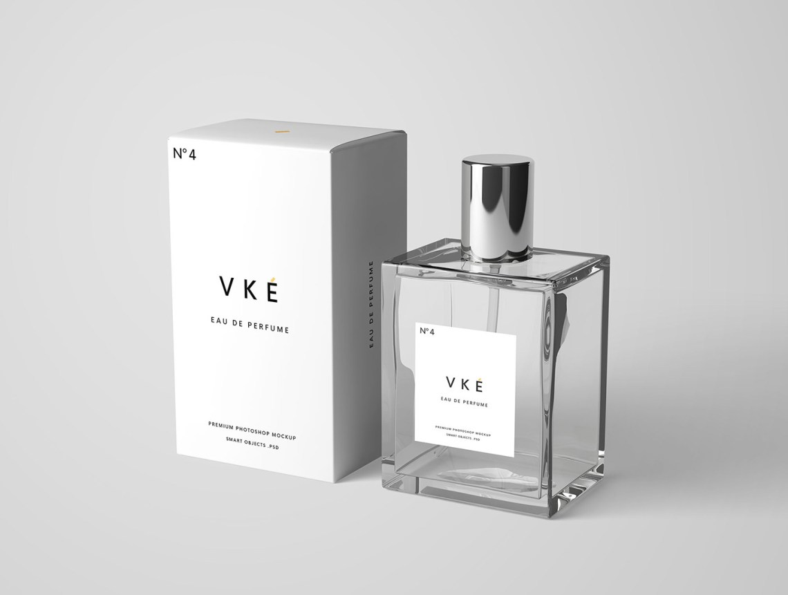 Download Perfume Bottle Package Mockup PSD on Behance