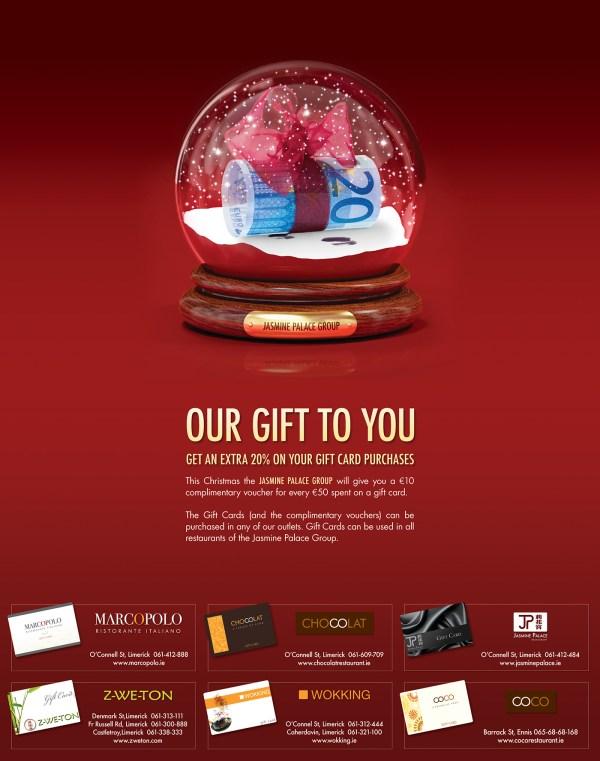 Print Advertisement for Restaurants' Gift Card Offer on ...