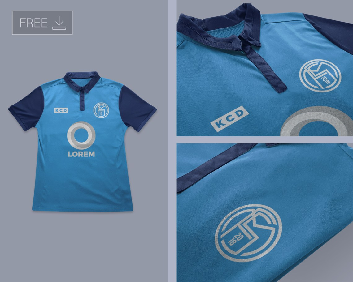 Download Free Football Soccer Jersey Logo Mockup PSD on Behance