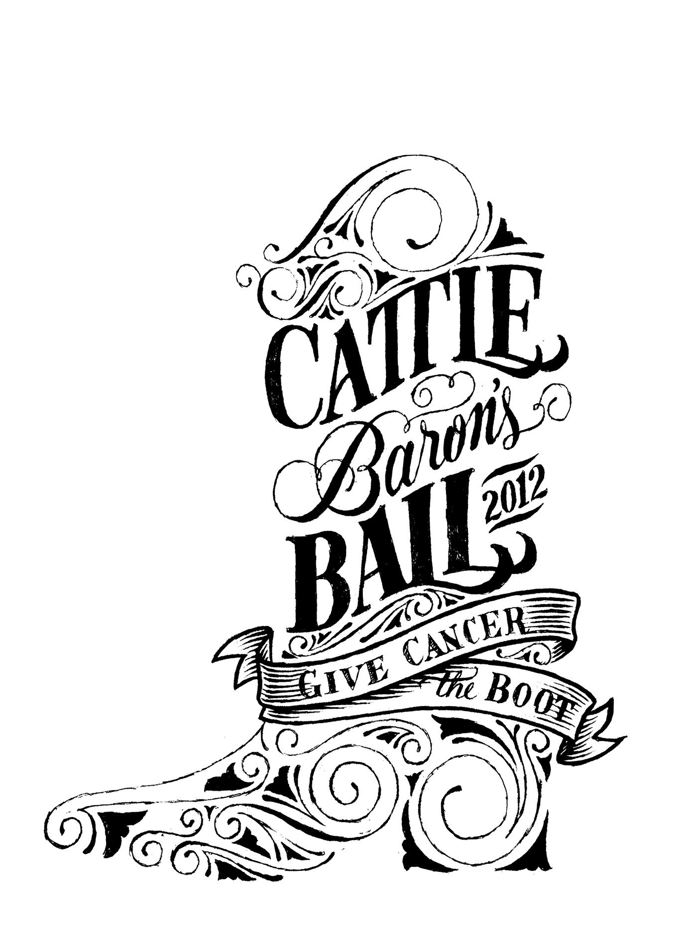 Cattle Baron S Ball Theme Logo On Behance