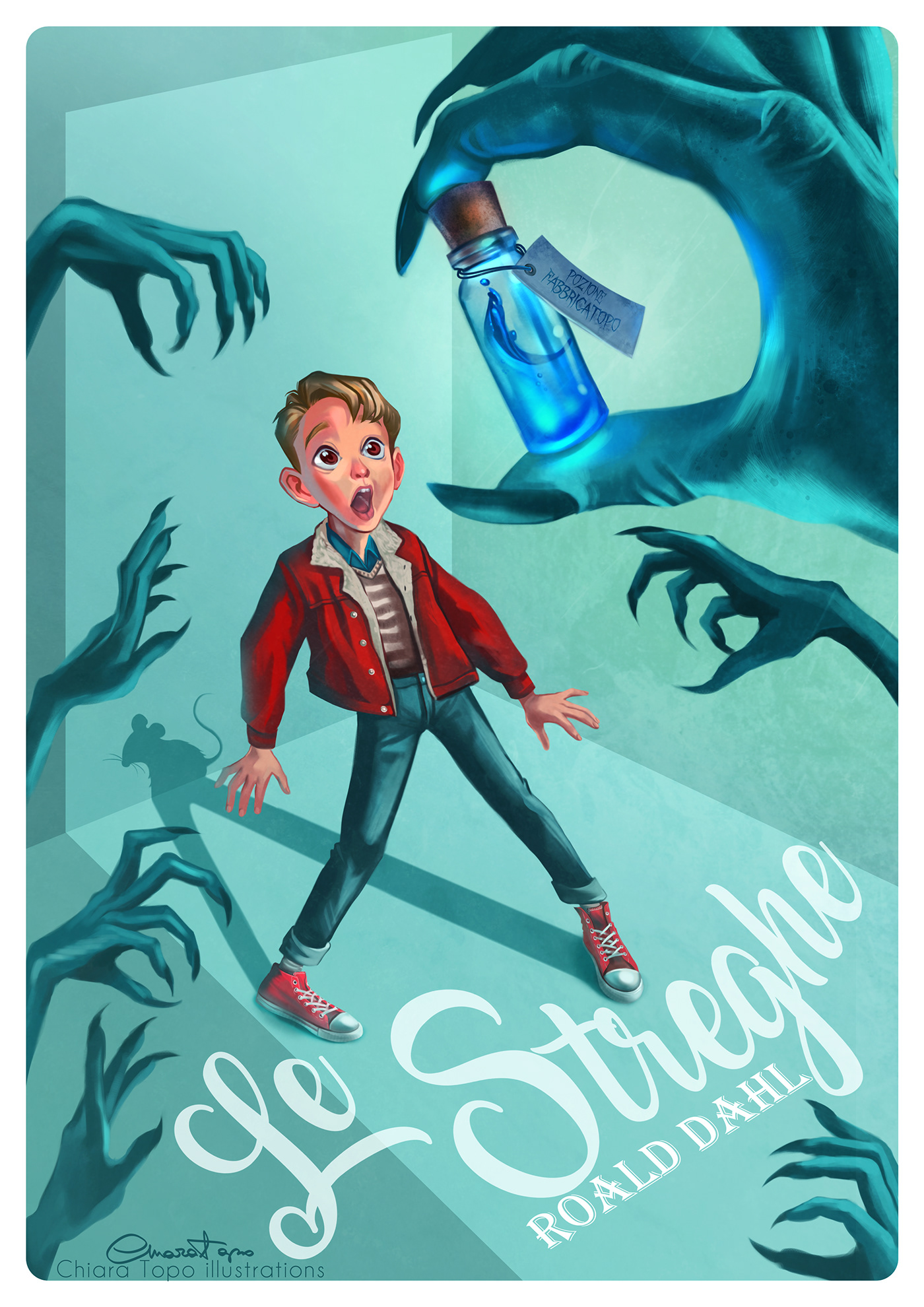The Witches By Roald Dahl Cover Remake On Behance