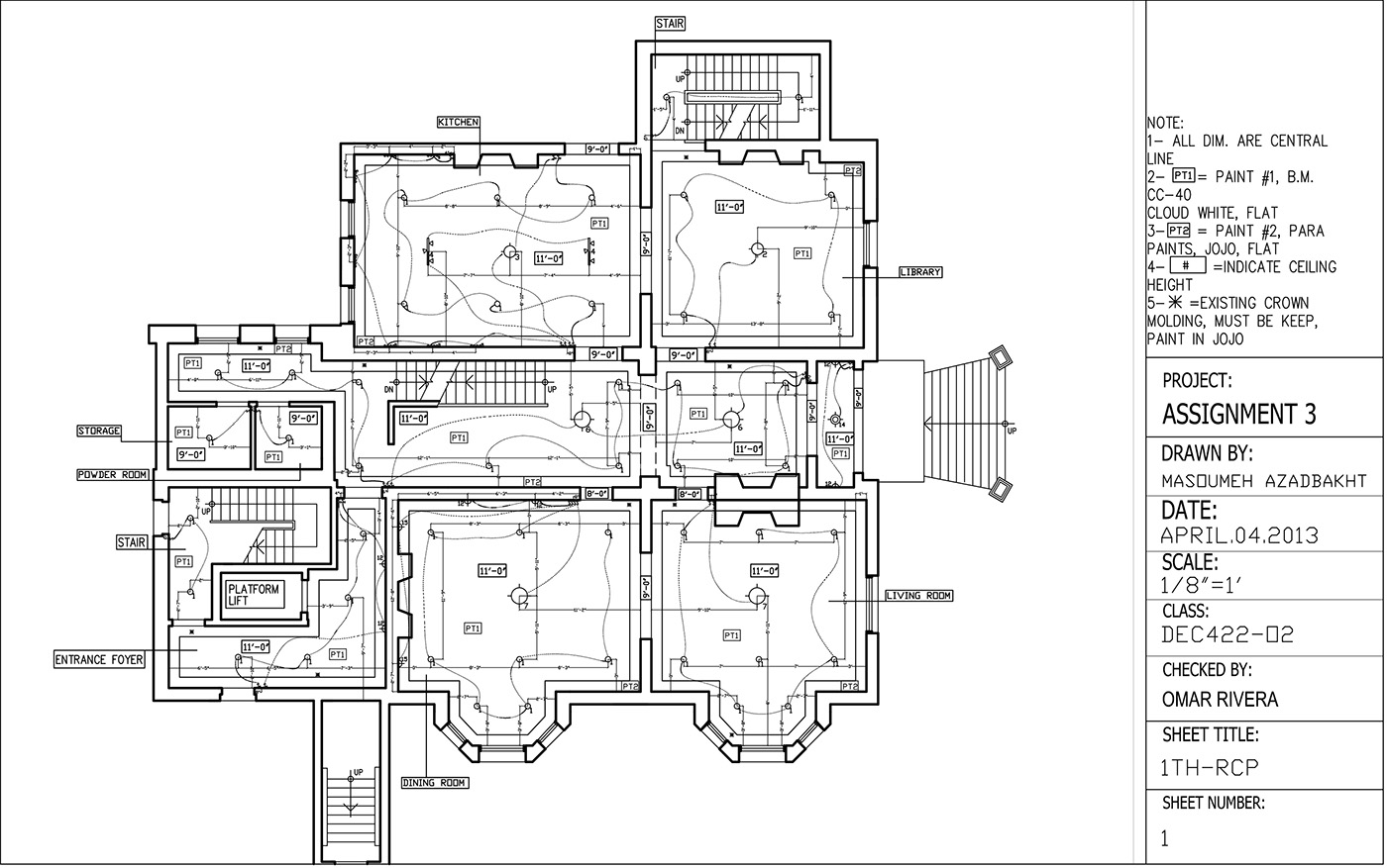 Reflected Ceiling Plan Amp Electrical Plan Drawing On Behance