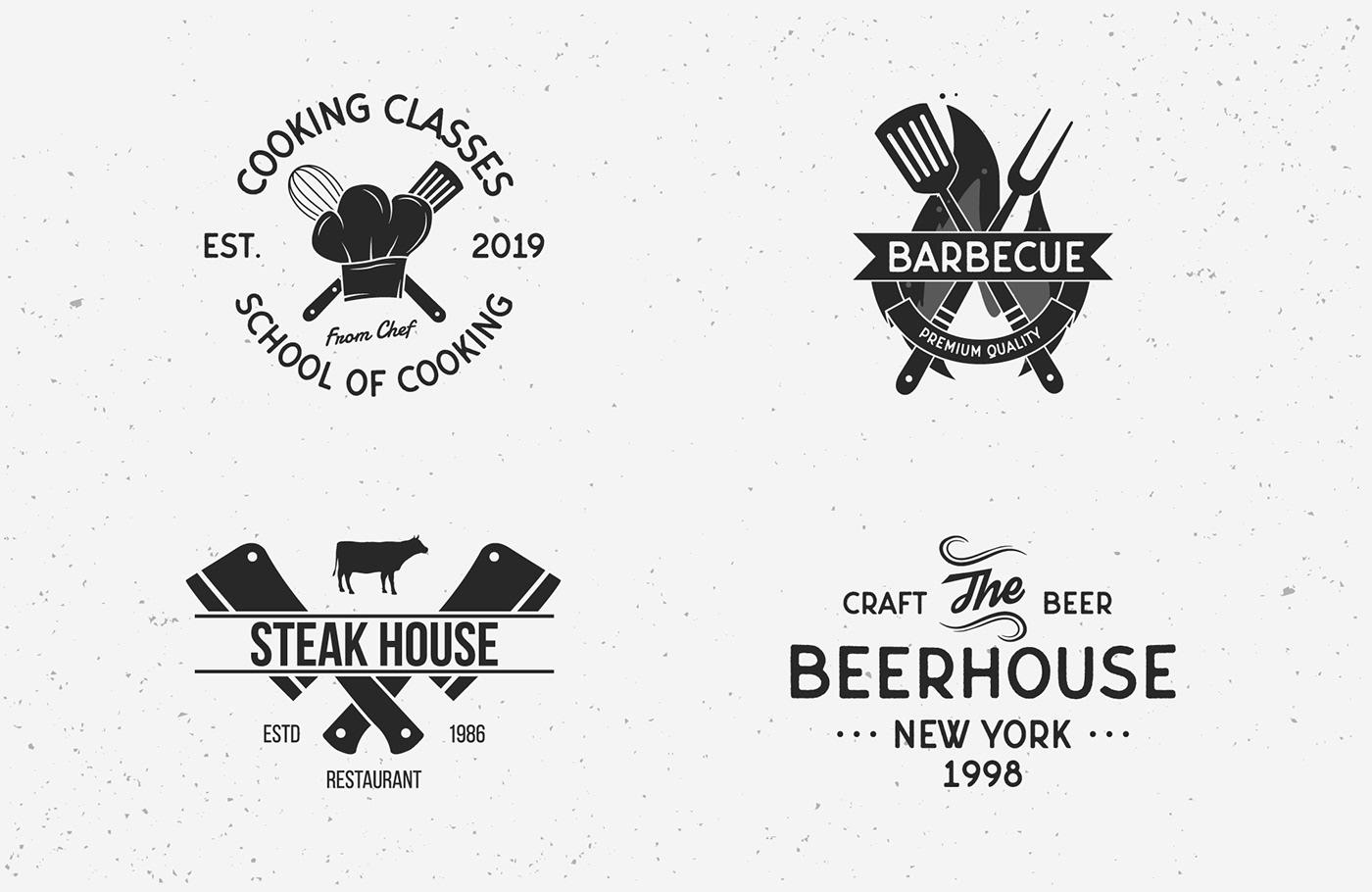12 Vintage Logo Templates 6 Free Logos On Behance