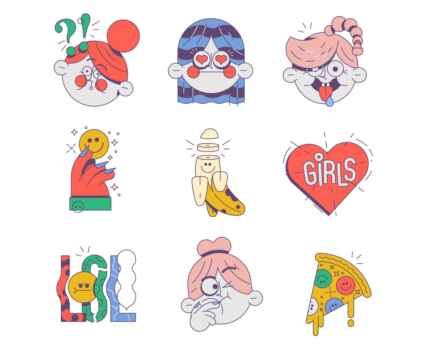 Go Girl For Stickerace On Behance