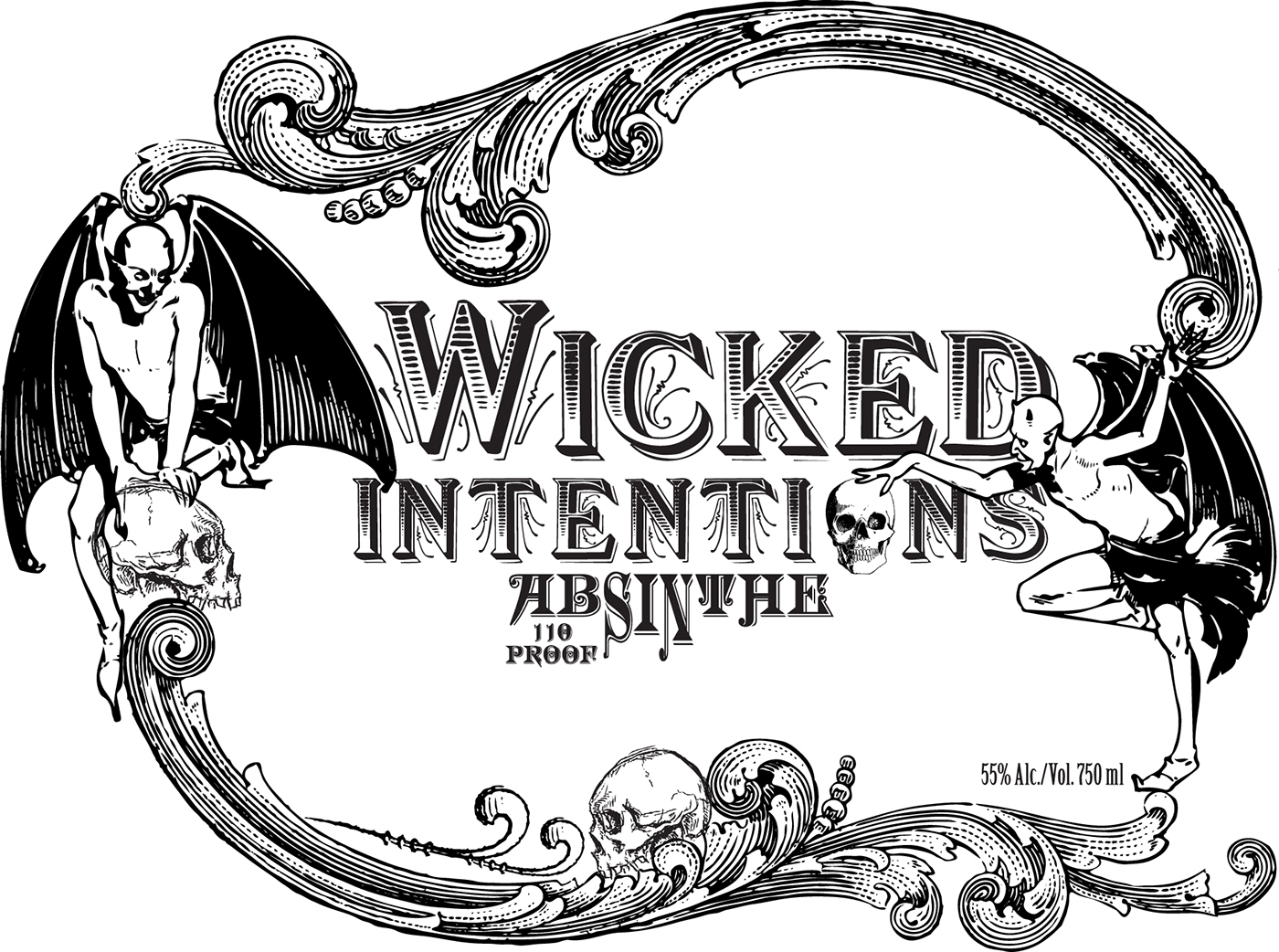 Wicked Intentions Absinthe Label On Behance