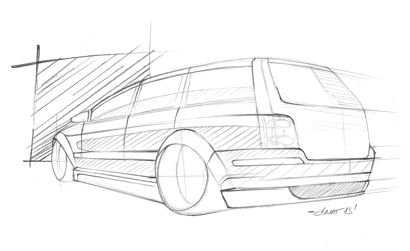 Sketches Tuning Car On Behance