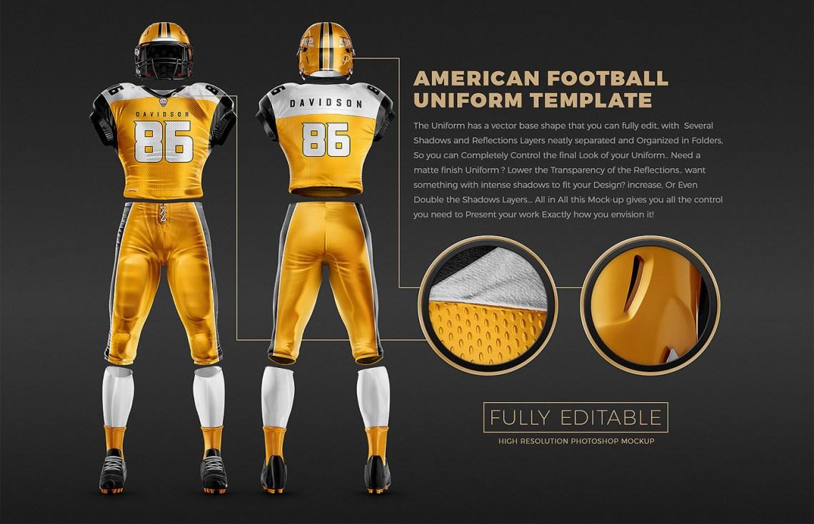 Download TouchDown Football Uniform Mockup on Behance