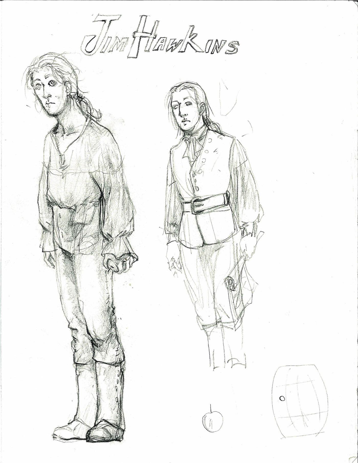 Treasure Island Characters Studio On Behance