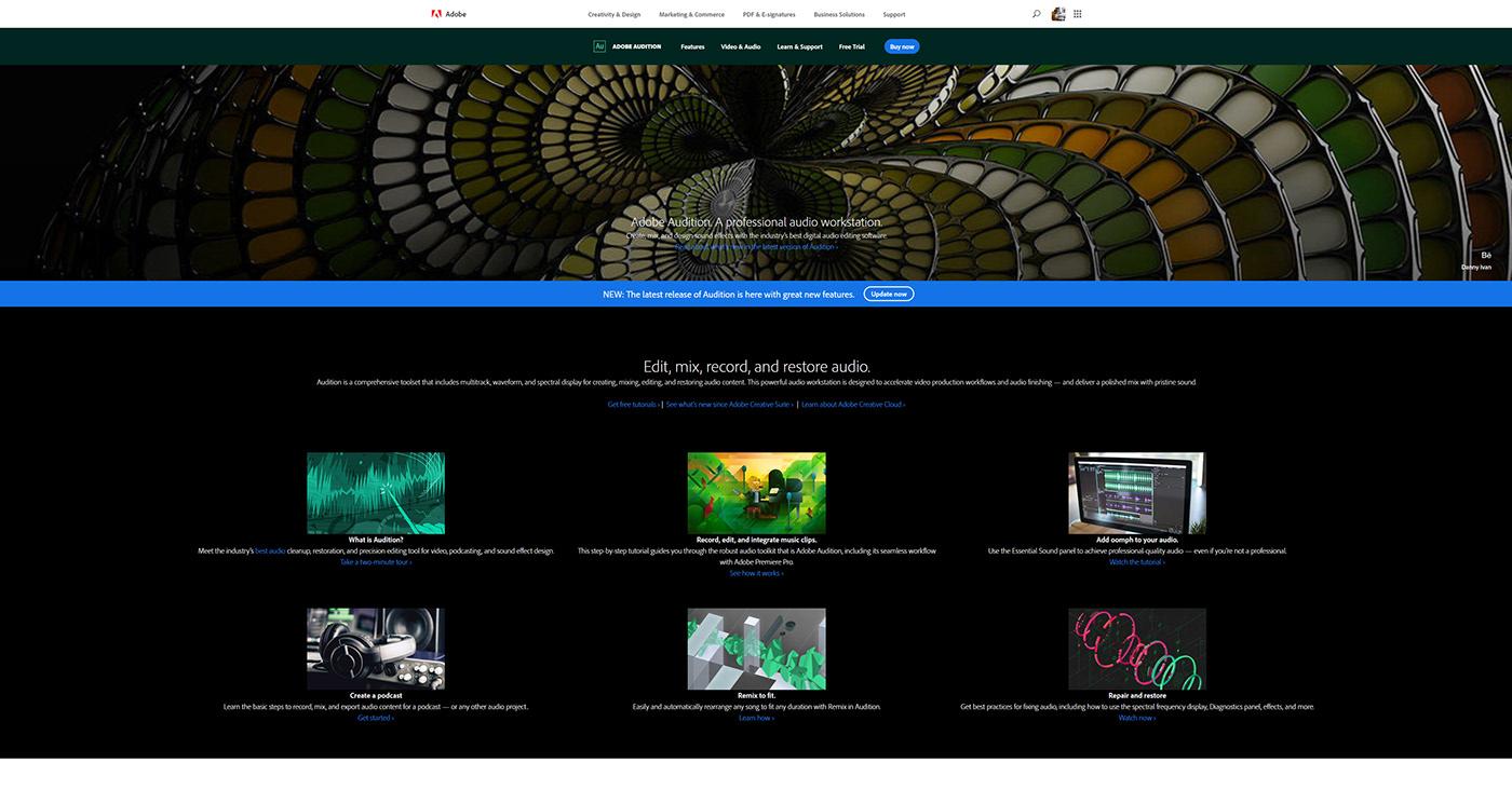 Adobe Audition 2020 Splash Screen on Behance