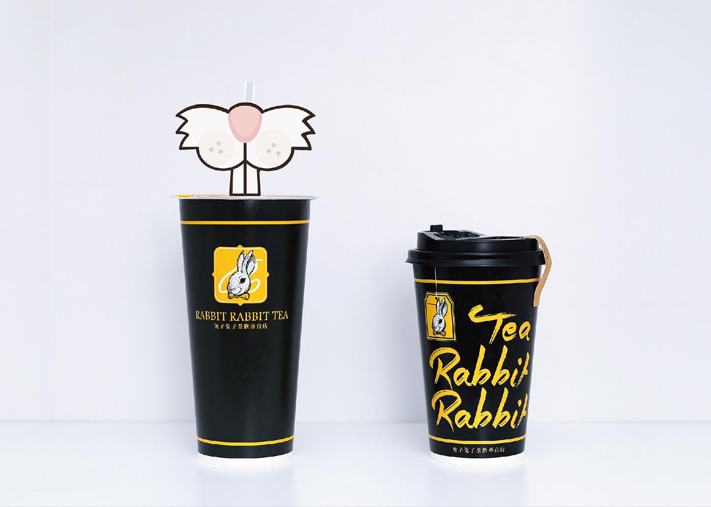 兔子兔子茶飲專賣店-RABBIT RABBIT TEA -VI設計 on Behance