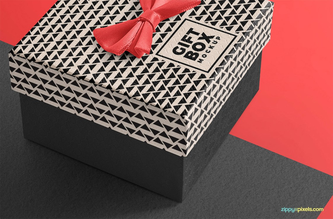Download Delicate and Free Gift Box Mockup on Behance