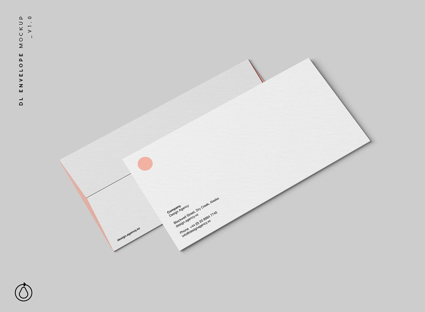 DL Envelope Mockup (PSD) on Behance