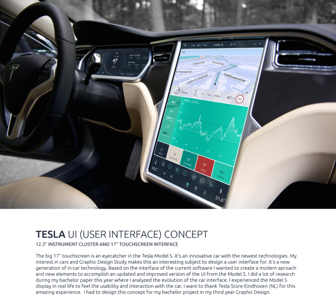 Tesla Car UI  user interface  Concept Model S Redesign on Behance