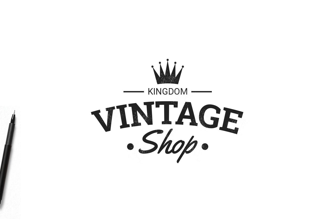 Vintage Logos Template Bundle V1