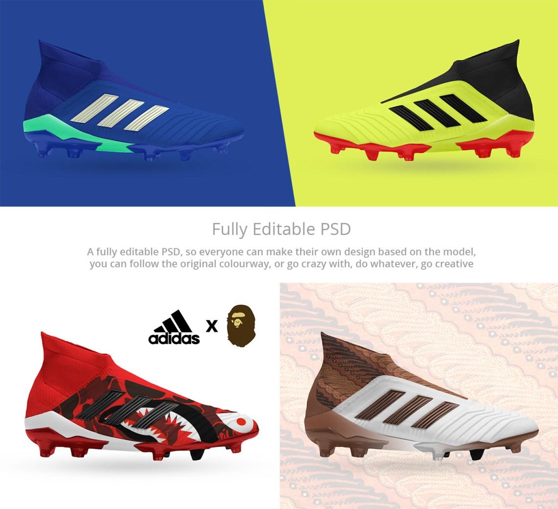 Download Adidas Predator 18+ FREE PSD Mockup on Behance