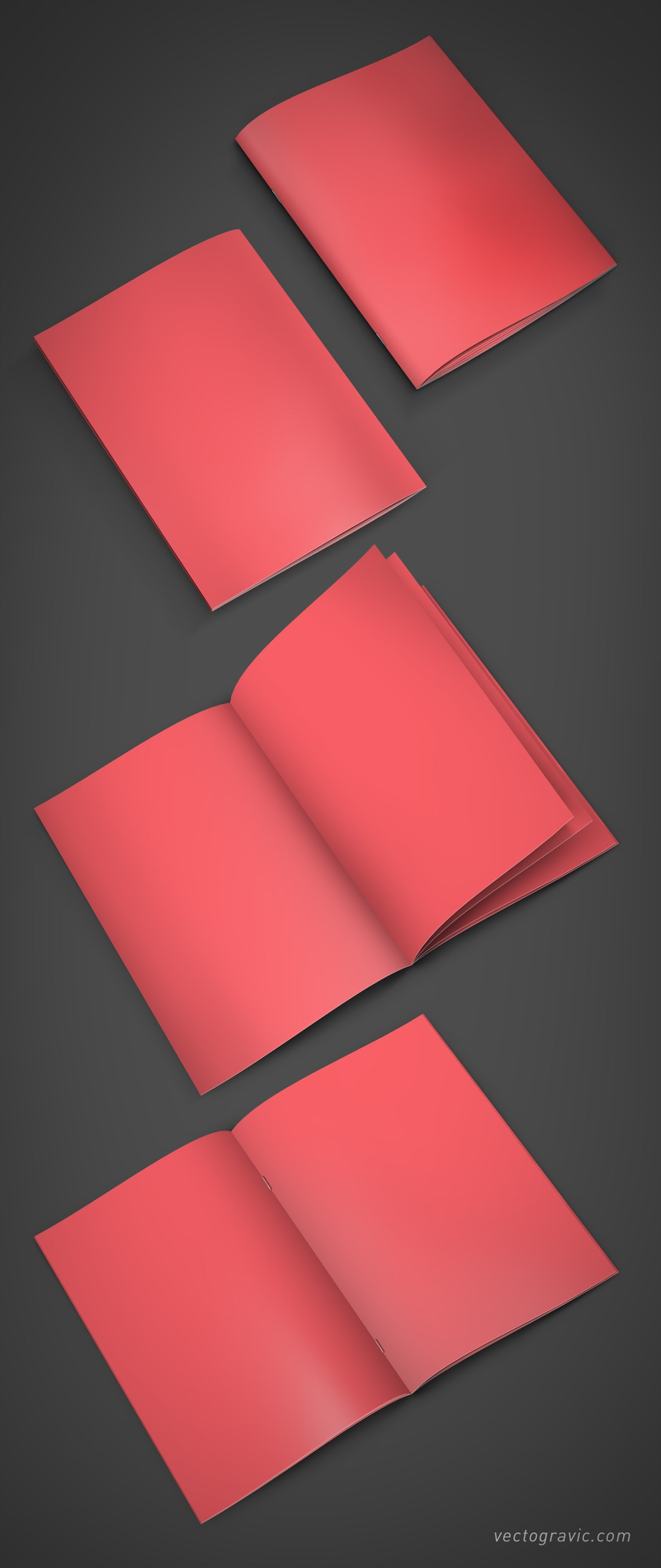 Download Free A4 Booklet Mockup - by Vectogravic on Behance