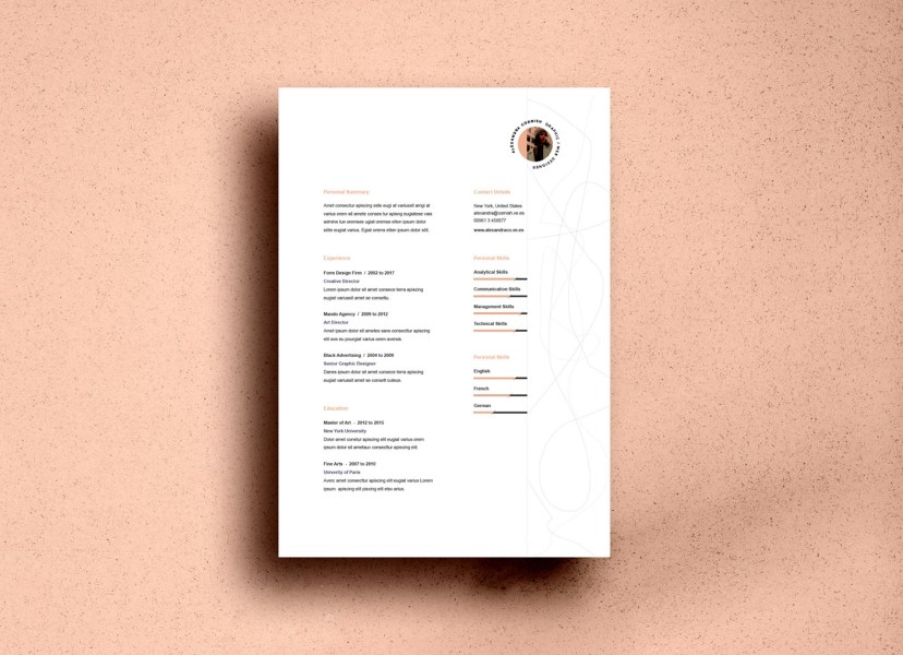 Free Resume Templates on Behance Download here   Free Resume Template