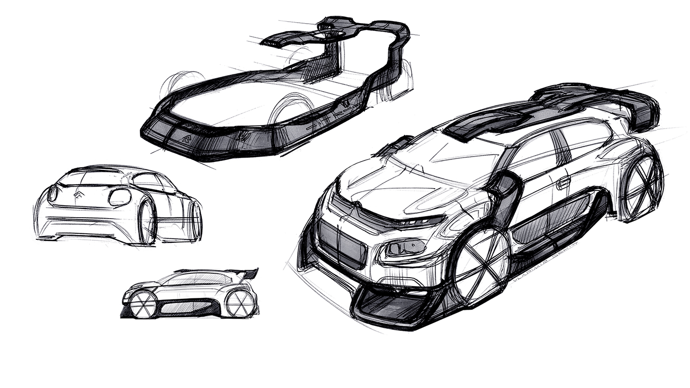 Citroen C3 Wrc Concept On Behance