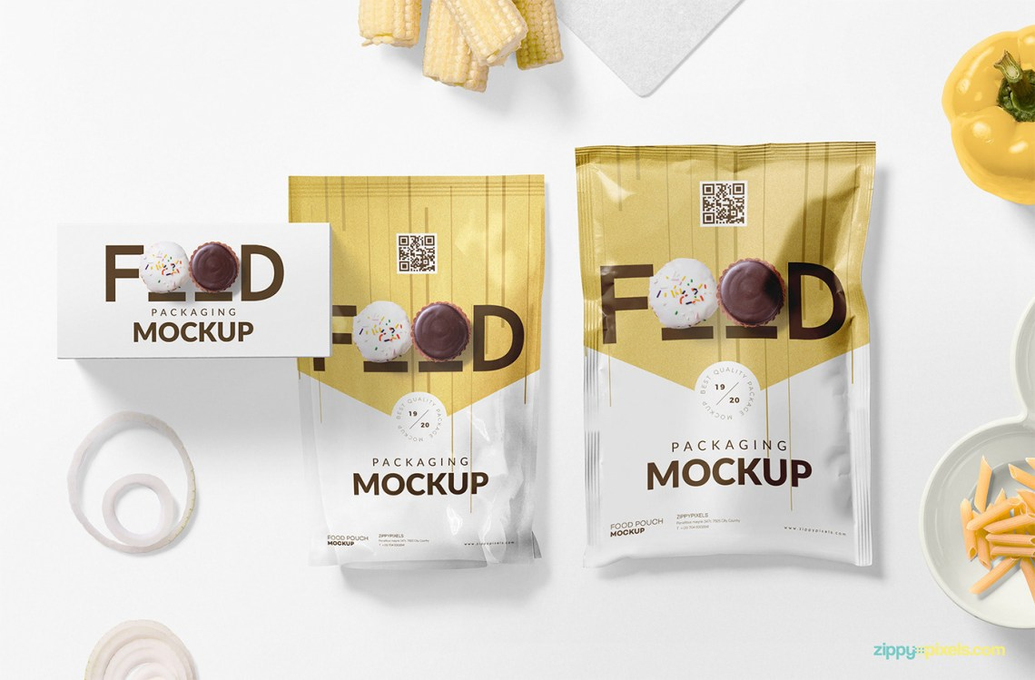 Download Free Food Packaging Mockup PSD on Behance