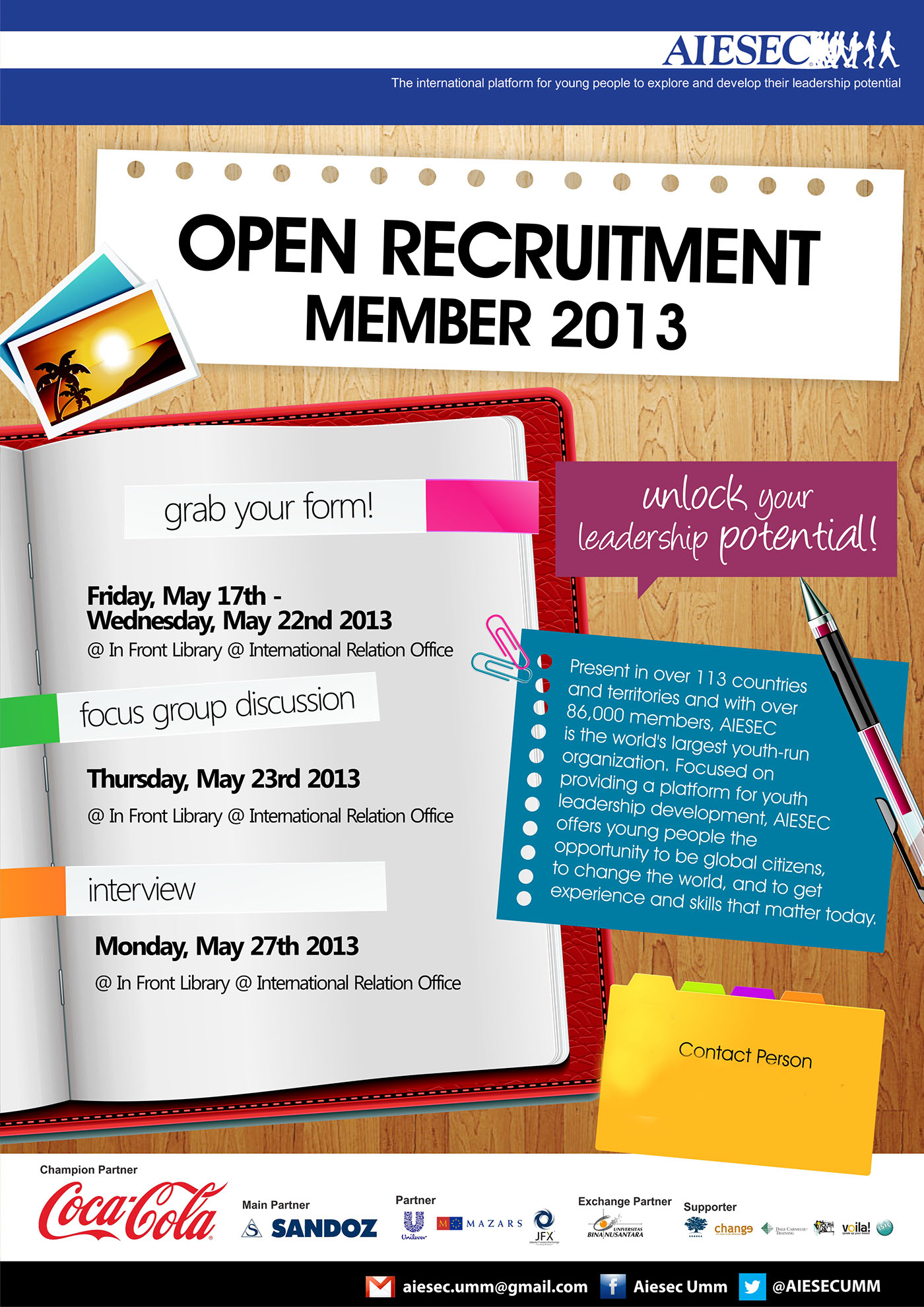AIESEC Open Recruitment Poster on Behance