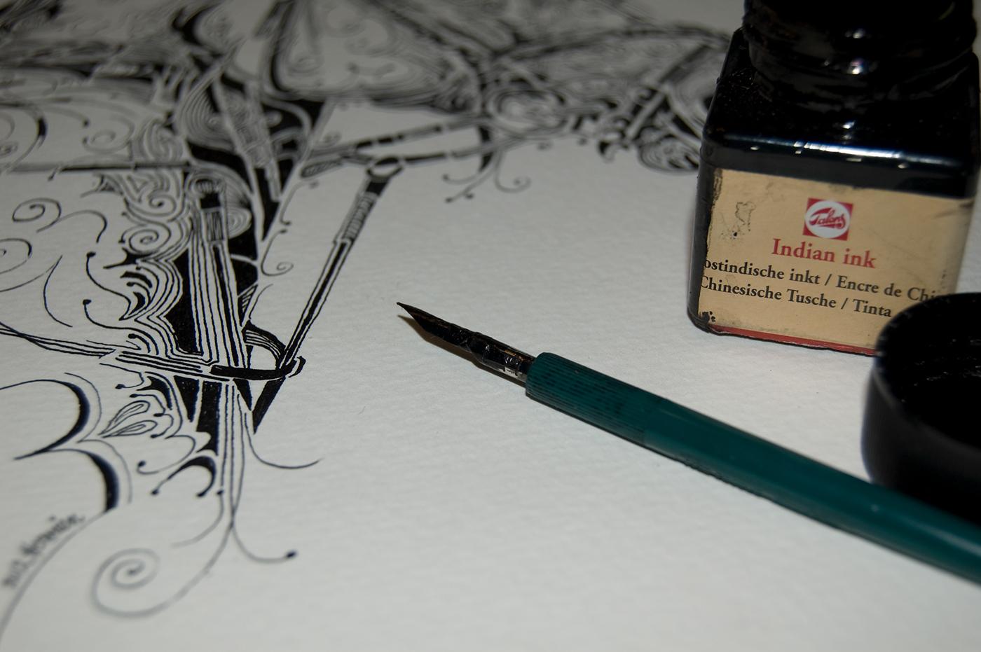 Indian Ink Art on Behance