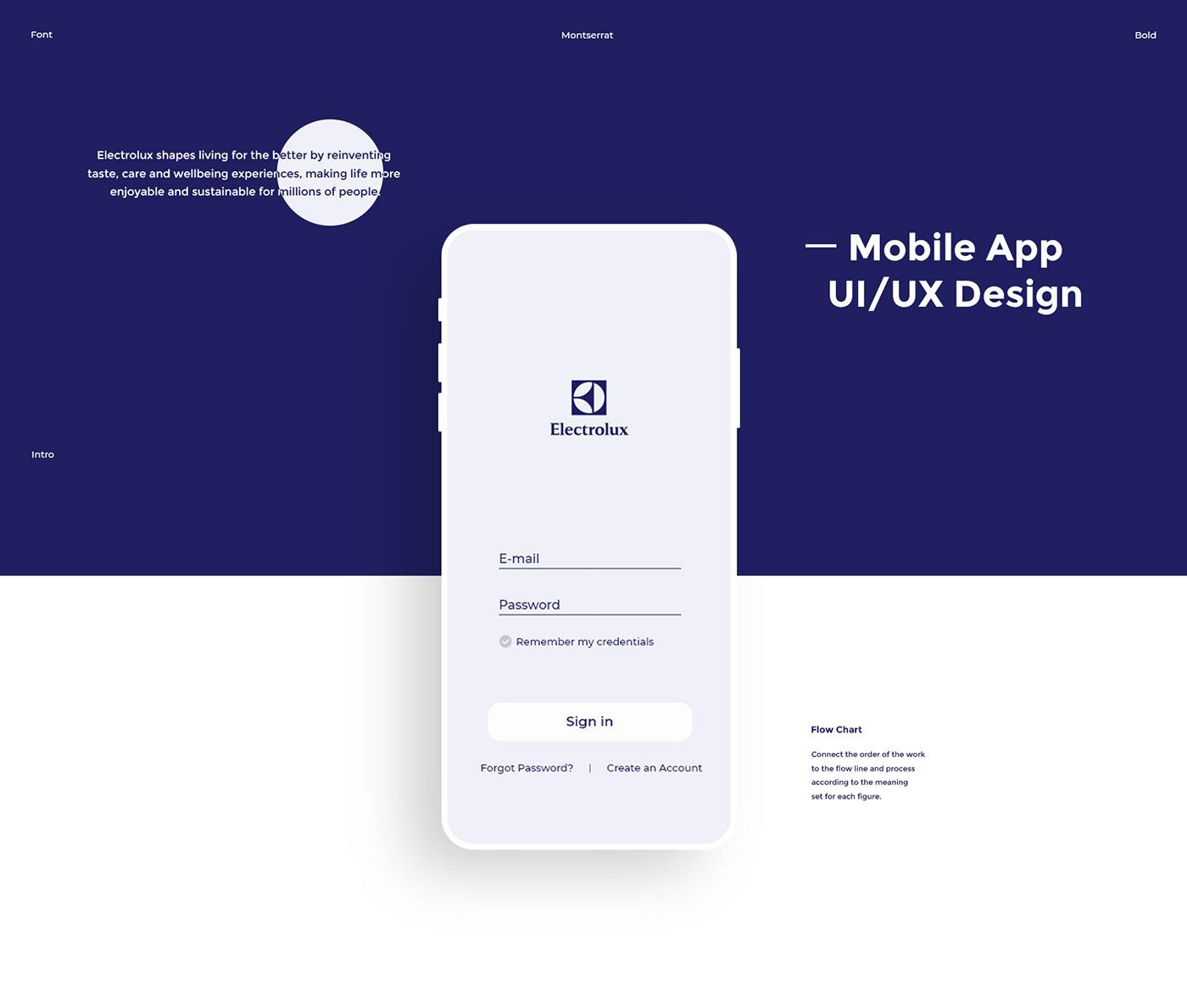 Electrolux App - UI/UX Design on Behance