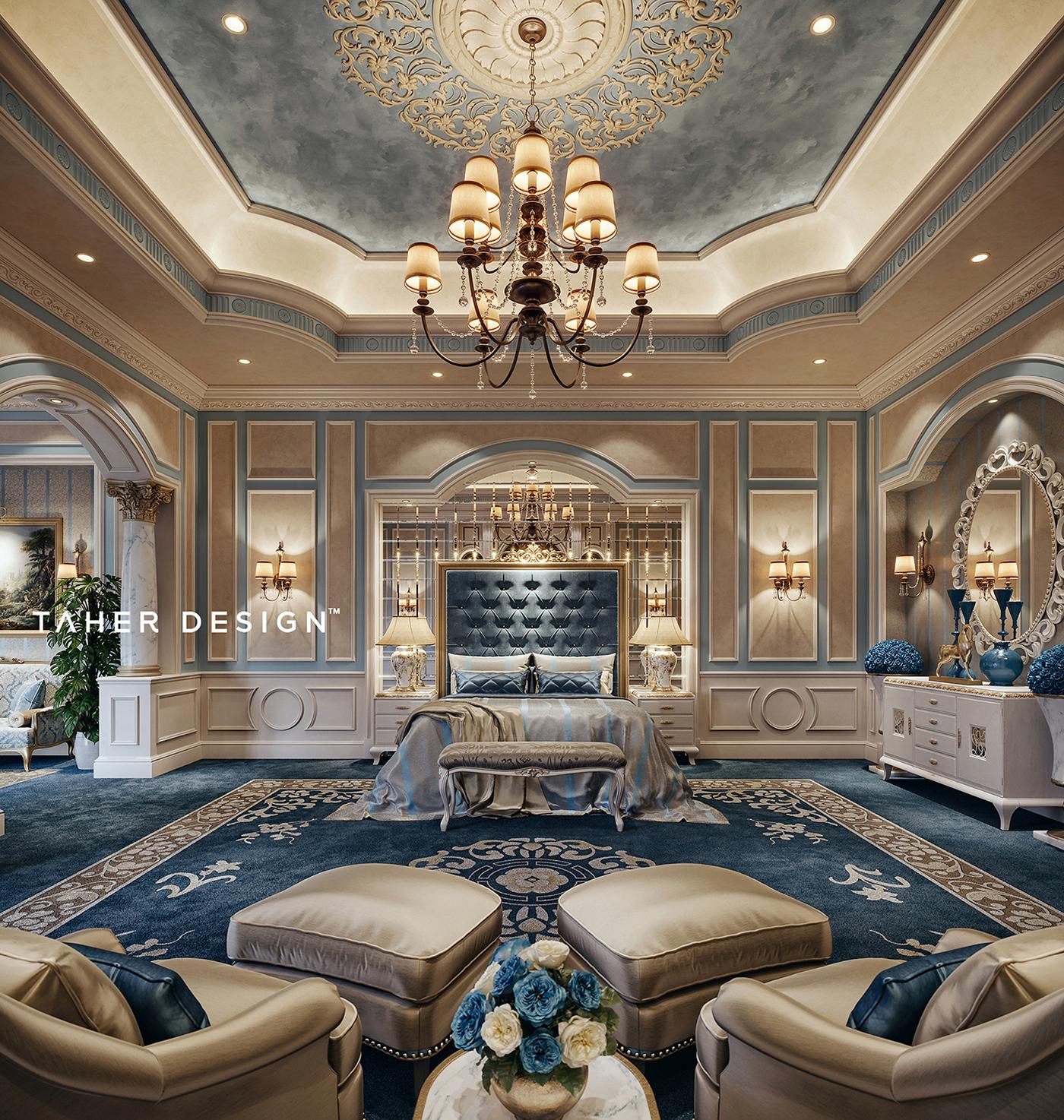 """Luxury Master Bedroom """" Dubai"""" on Behance on Luxury Master Bedroom  id=68252"""