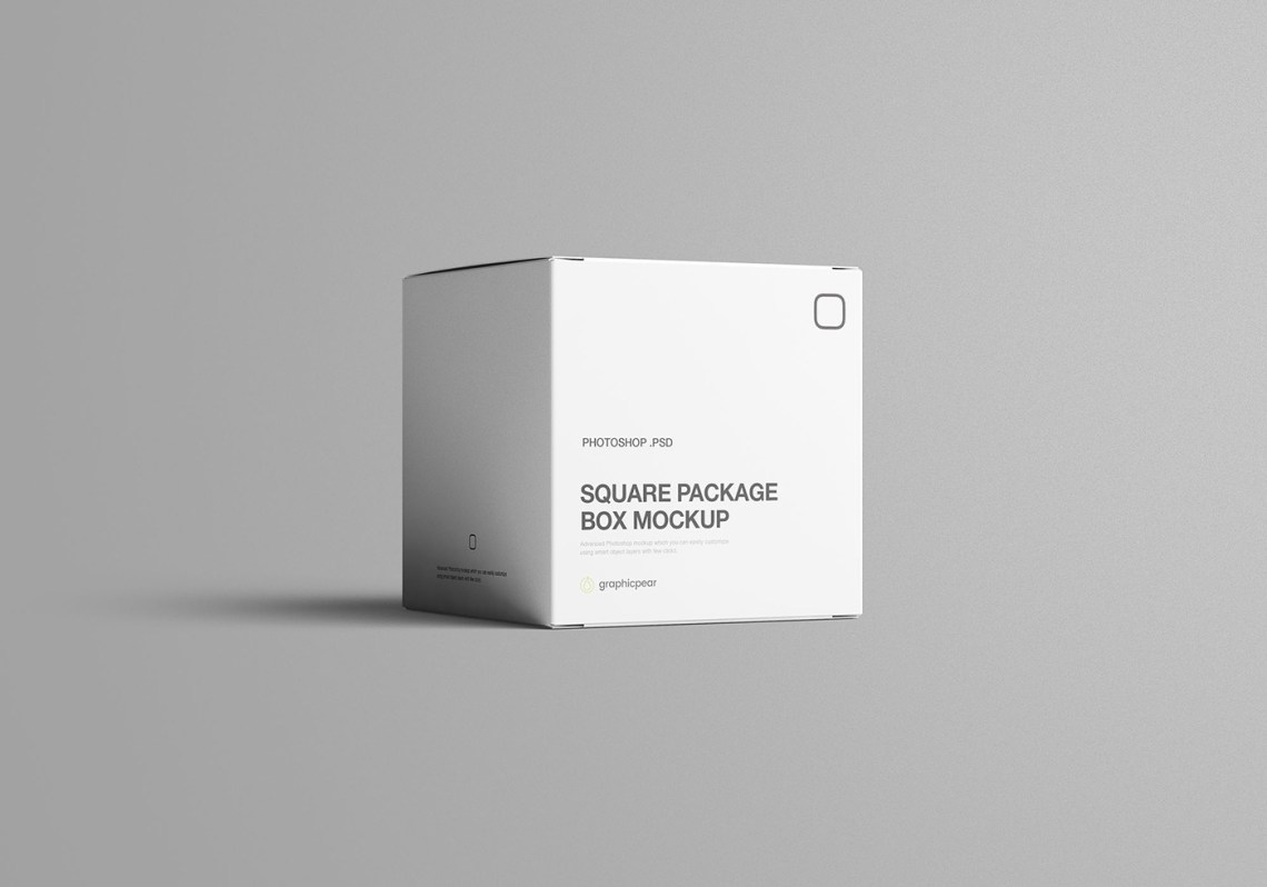 Download Square Package Box Mockup on Behance