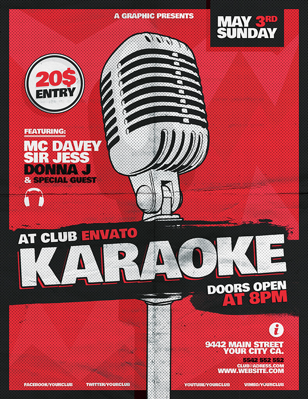 Karaoke Flyer Template On Behance