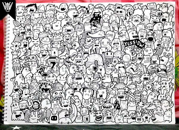 Doodle 225 Monsters On Doodle Art On Behance