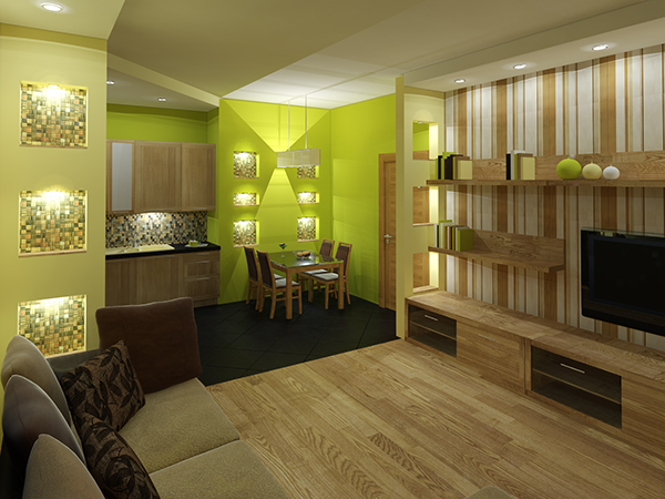 Interior Design In 2-bedroom Countryside Apartment On Behance