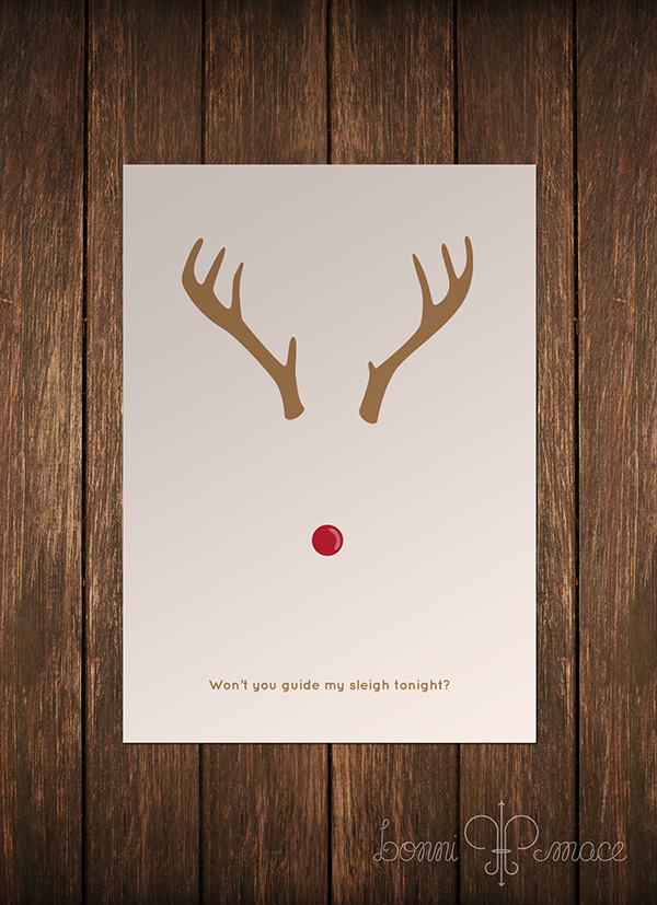 Classic Christmas Character Minimalist Cards On Behance