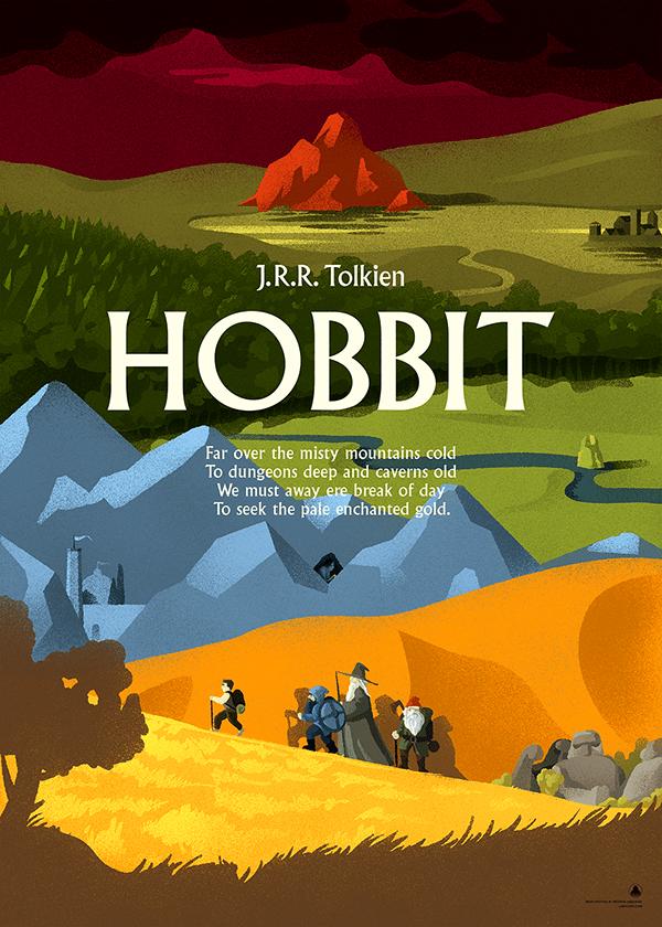 Hobbit (J.R.R. Tolkien) poster on Behance