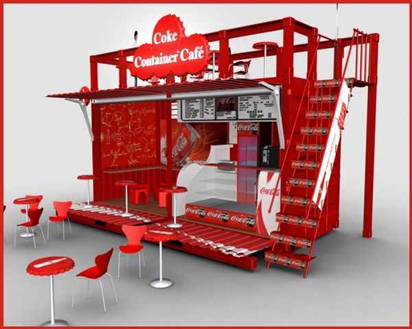Coke Container Cafe on Behance