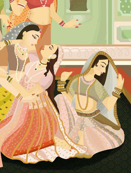 Rekhti Poetry in Urdu. An Editorial Illustration on Behance