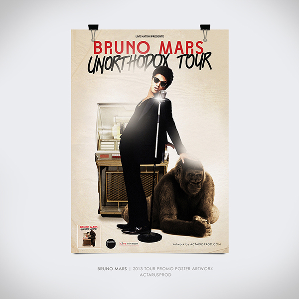 Bruno Mars - Unorthodox Tour Promo Poster on Behance