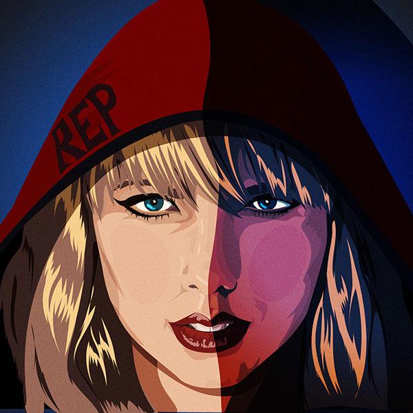 Download Illustration | Vector Art | Reputation | Taylor Swift on ...
