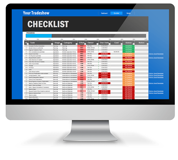 Trade Show Checklist (Excel Template) on Behance